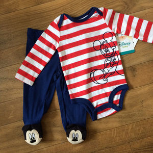 DISNEY Baby 3-6 Month Mickey Mouse Two Pieces